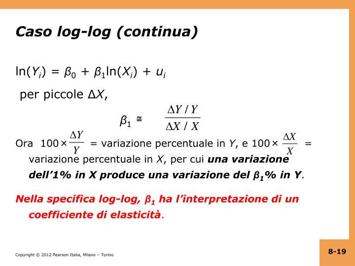 Caso log-log (continua)