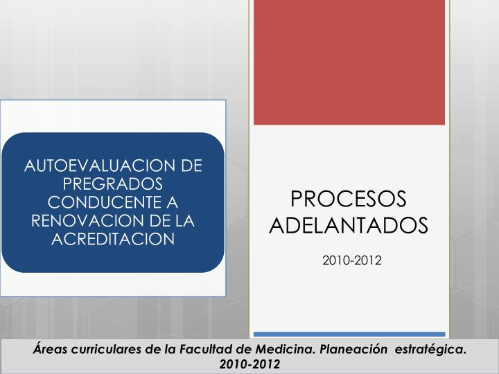 PROCESOS ADELANTADOS