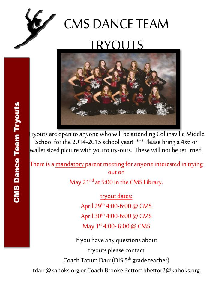 cms dance team tryouts n.
