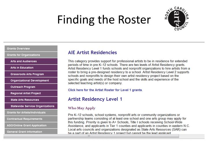 Finding the Roster