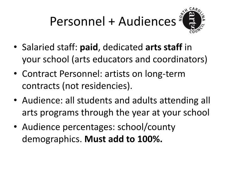 Personnel + Audiences