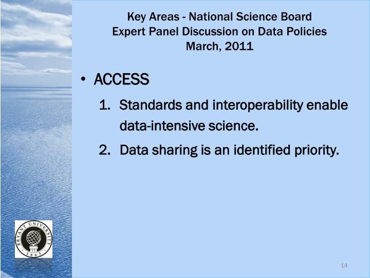 Key Areas - National Science Board
