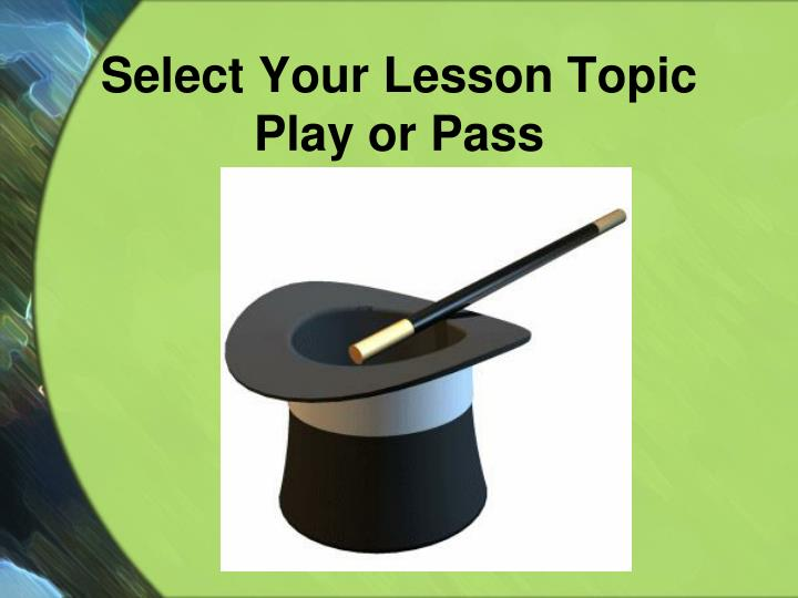 Select Your Lesson