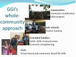 ggi s whole community approach