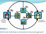 model 2 multi level individual community structural approach