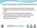 social ecology combined prevention