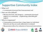 supportive community index
