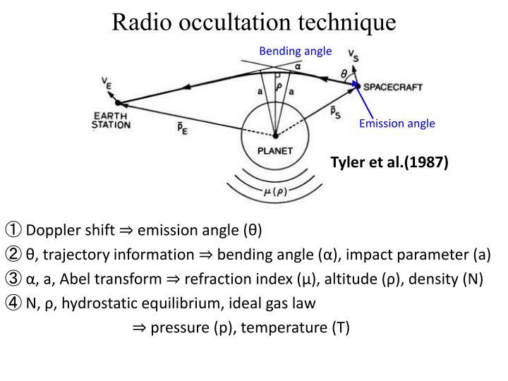 Radio occultation technique