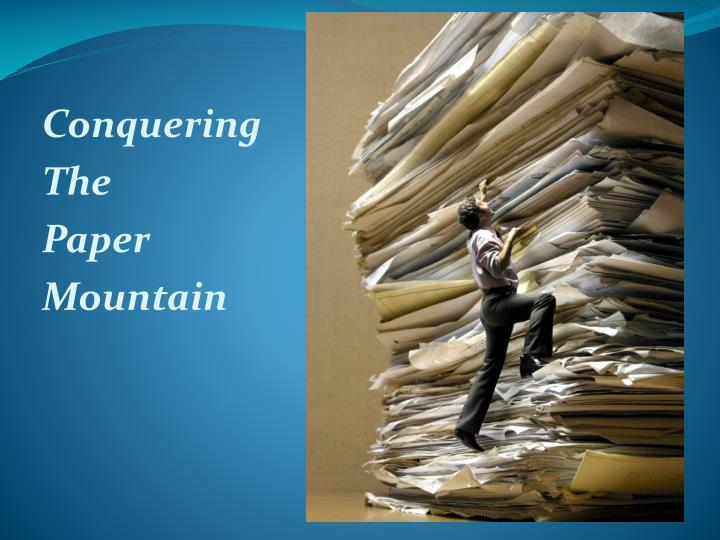 conquering the paper mountain n.