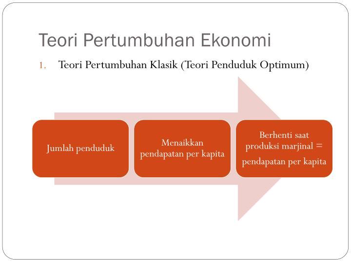 Teori Pertumbuhan Ekonomi