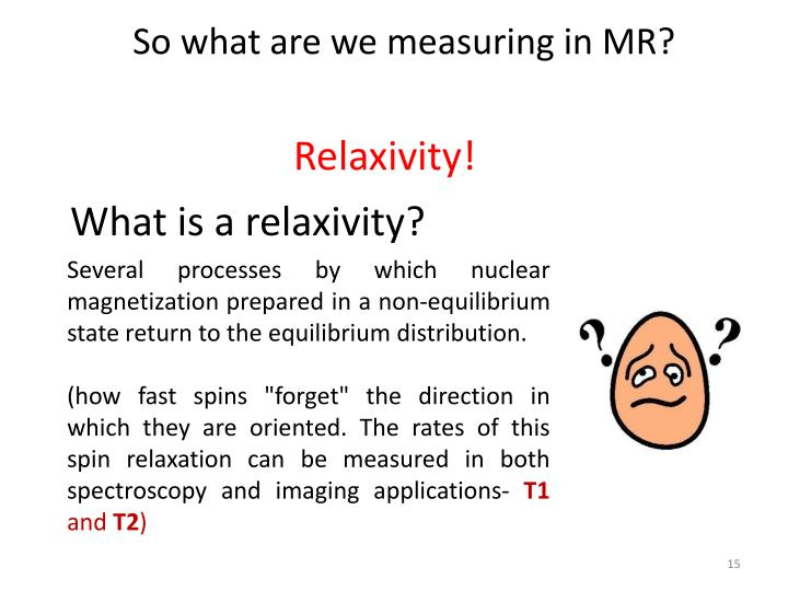 So what are we measuring in MR?