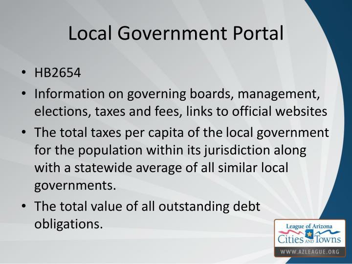 Local Government Portal