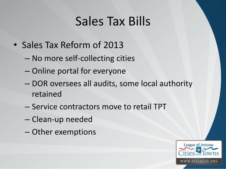 Sales Tax Bills