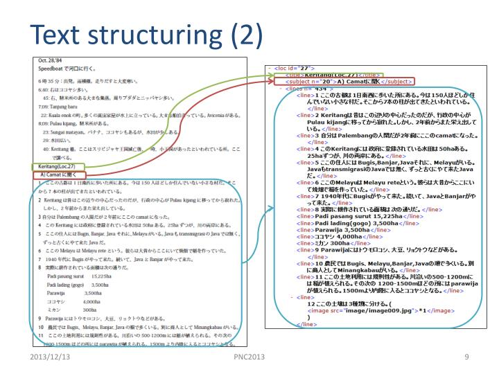Text structuring