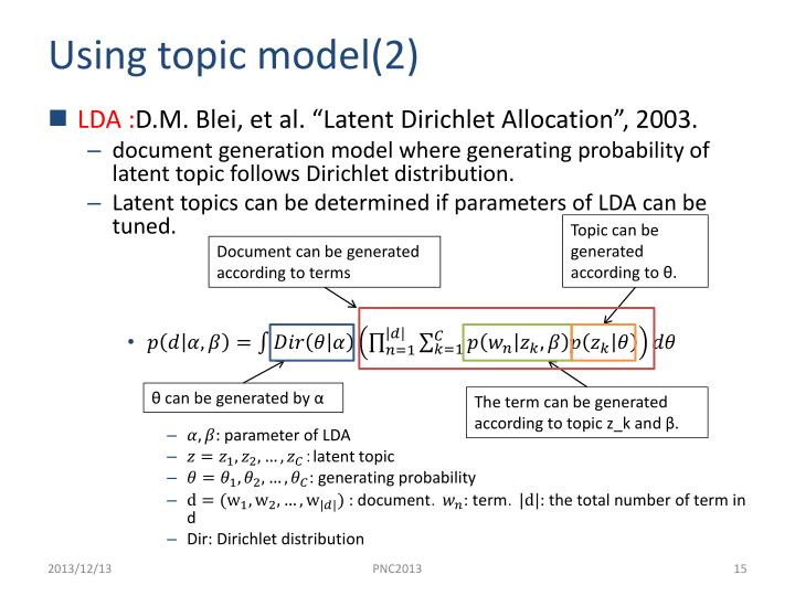 Using topic model(2)