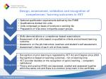 design assessment validation and recognition of competences learning outcomes in vet
