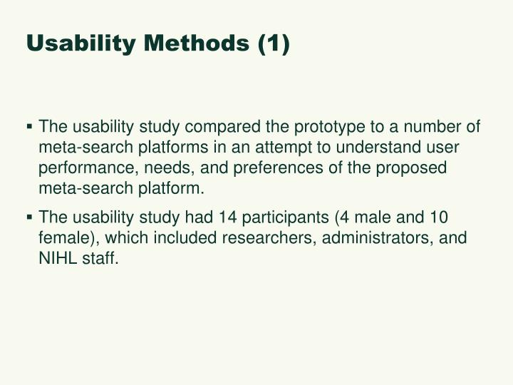 Usability Methods (1)