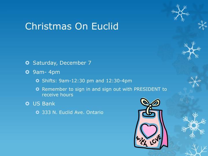 Christmas On Euclid