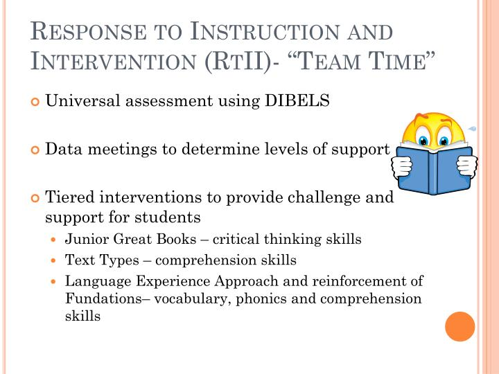 Response to Instruction and Intervention (