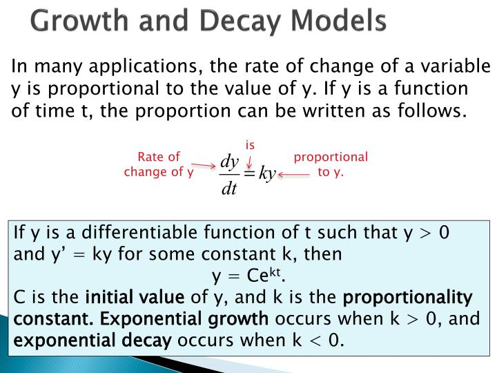 Growth and Decay Models