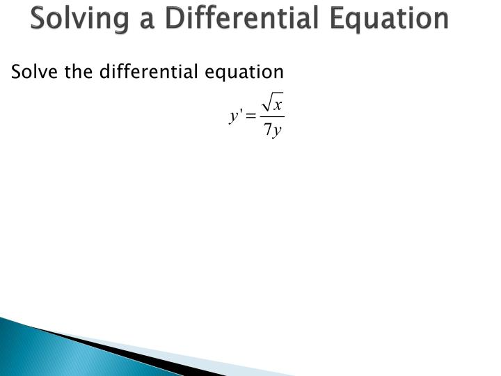 Solving a differential equation1
