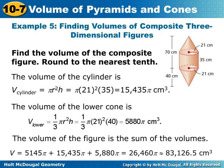 10-7 problem solving volume of pyramids and cones