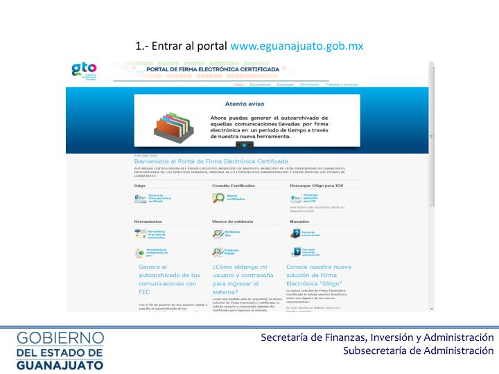 1 entrar al portal www eguanajuato gob mx