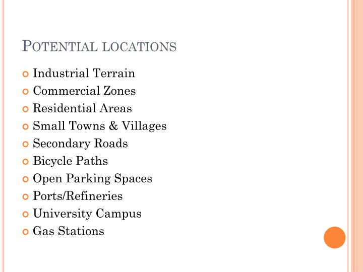 Potential locations