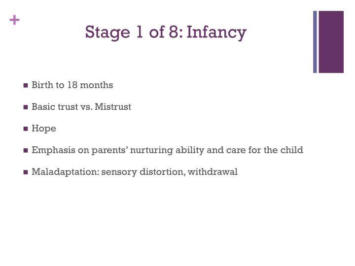 Stage 1 of 8 infancy