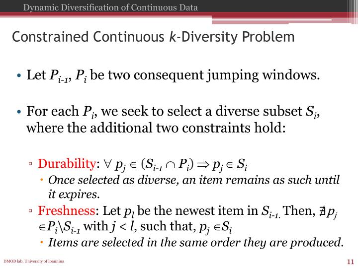 Constrained Continuous