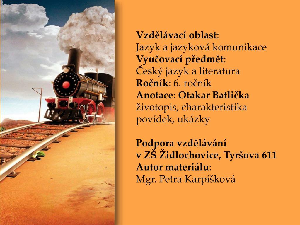 Ppt Otakar Batlicka Powerpoint Presentation Id 3169359