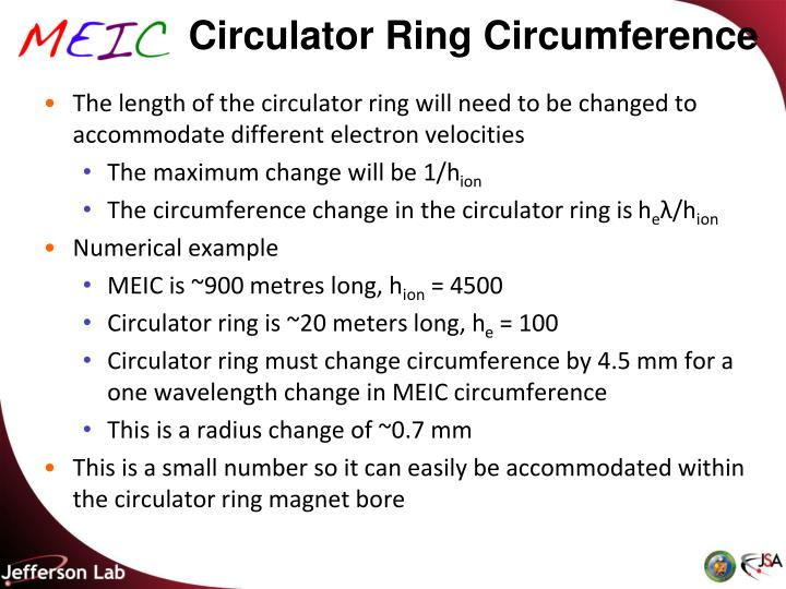 Circulator Ring Circumference