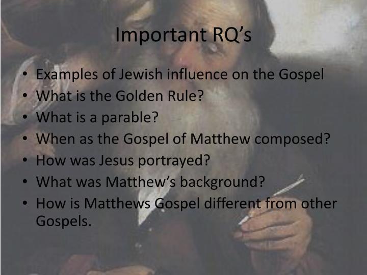 Important RQ's