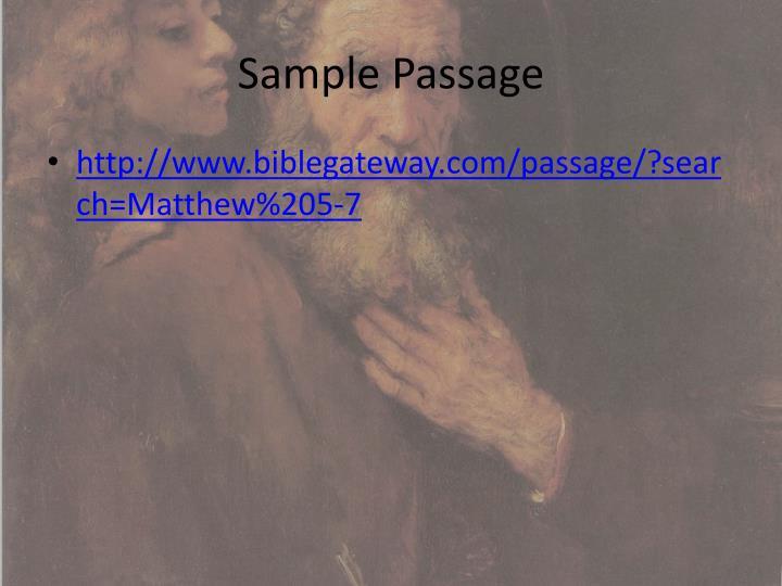Sample Passage