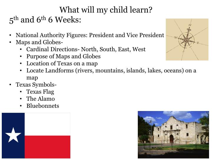 What will my child learn?