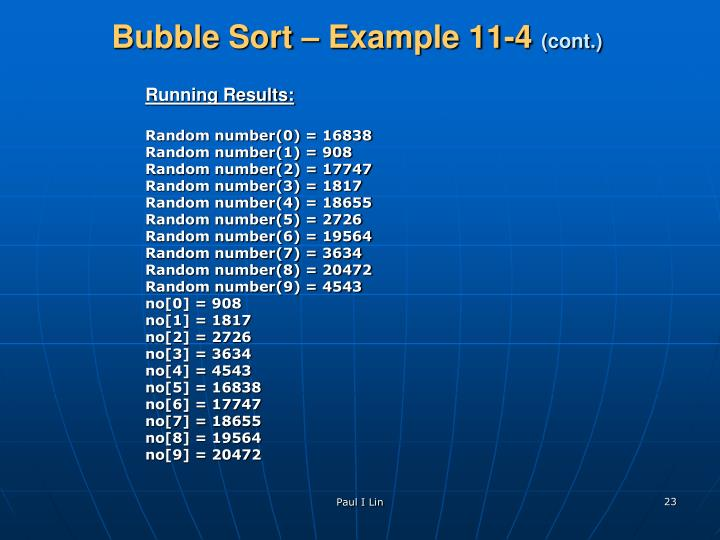 Bubble Sort – Example