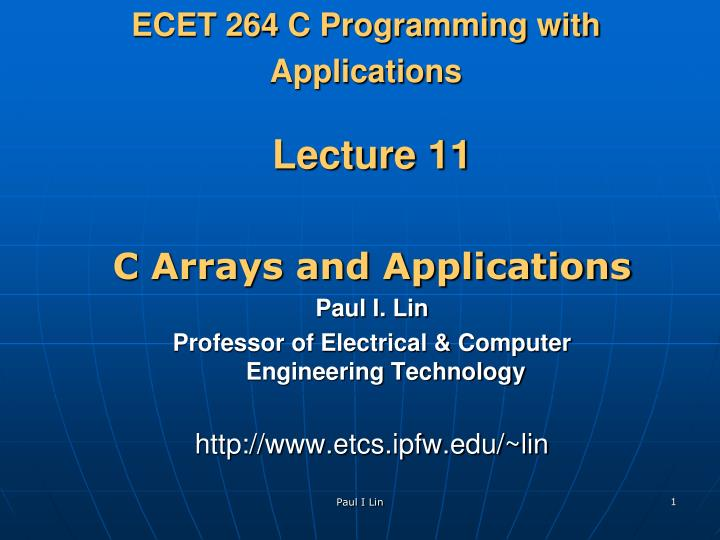 Ecet 264 c programming with applications