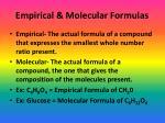 empirical molecular formulas