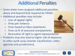 additional penalties