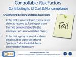 controllable risk factors contributing to ui cost noncompliance2