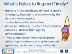 what is failure to respond timely