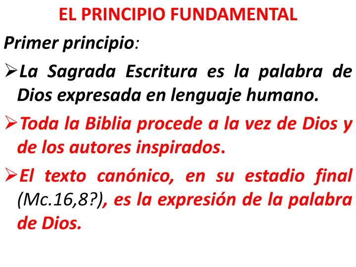 EL PRINCIPIO FUNDAMENTAL