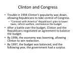 clinton and congress