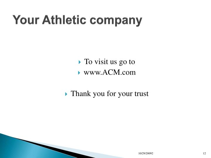 Your Athletic company