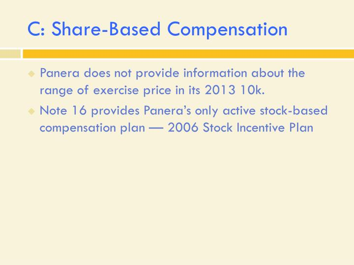 C: Share-Based Compensation