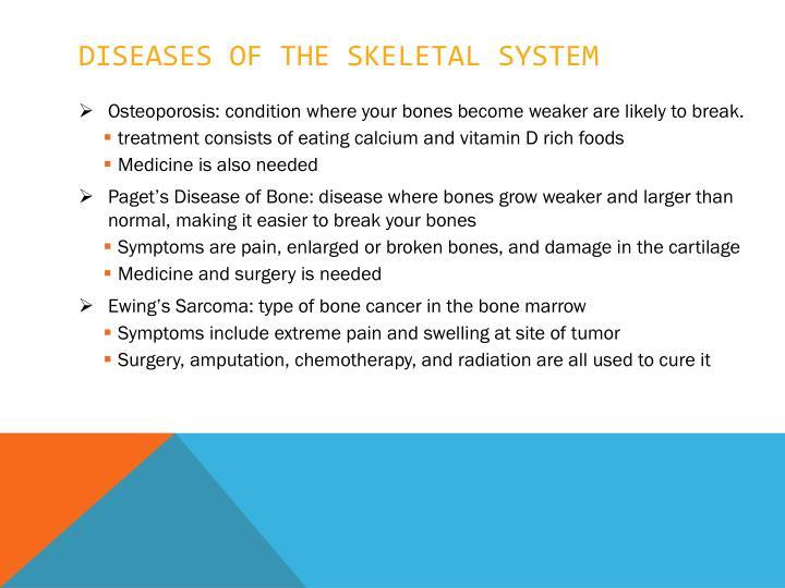 Diseases of the skeletal system