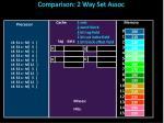 comparison 2 way set assoc