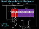 direct mapped cache hardware