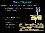 memory hierarchy1