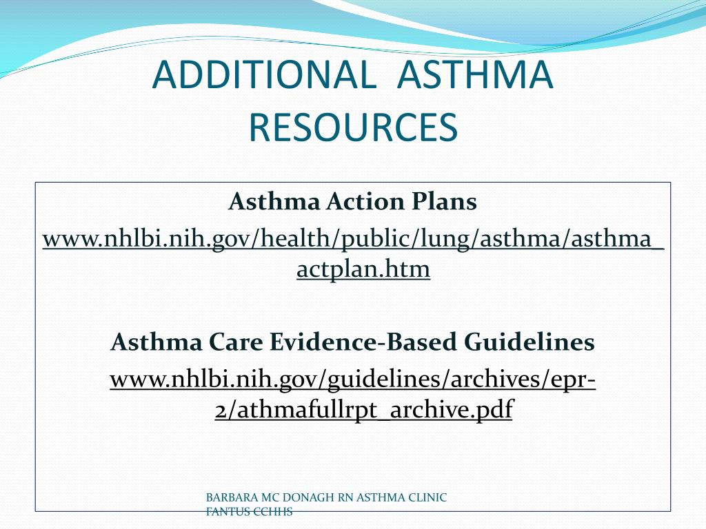PPT - A PLAN TO IMPROVE ASTHMA CARE PowerPoint ...